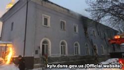 В Киево-Печерской лавре произошел пожар (+фото)