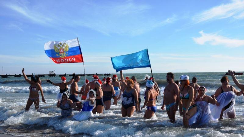 В Евпатории запланирован рождественский заплыв «моржей»