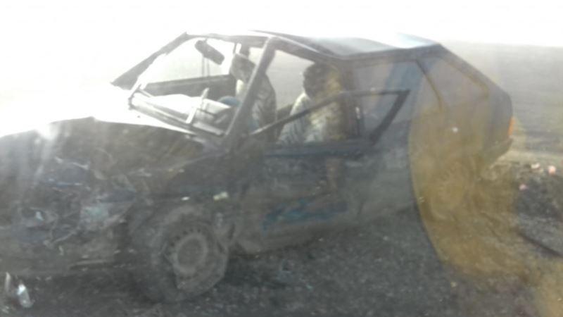 На трассе «Таврида» образовалась пробка длиной 3 километра из-за аварии (+фото)