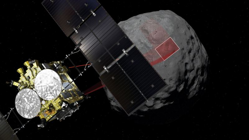 Японский зонд сел на поверхность астероида Рюгу