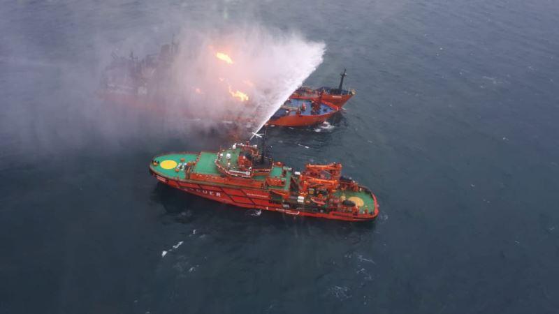У берегов Крыма потушили пожар на одном из танкеров, горевших больше месяца