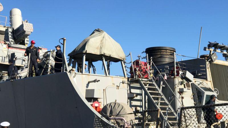 Эсминец США вошел в Черное море для совместных учений с Украиной