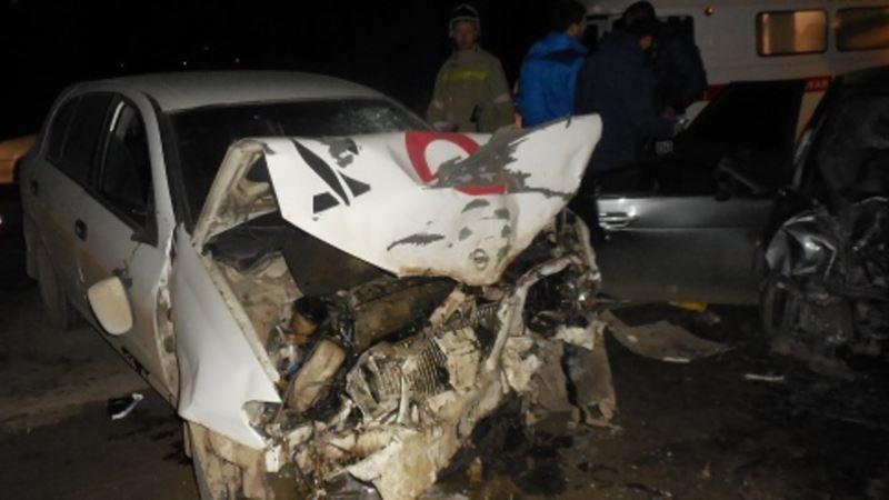 Лобовое столкновение на трассе «Таврида»: погиб водитель, четверо пострадали (+видео)