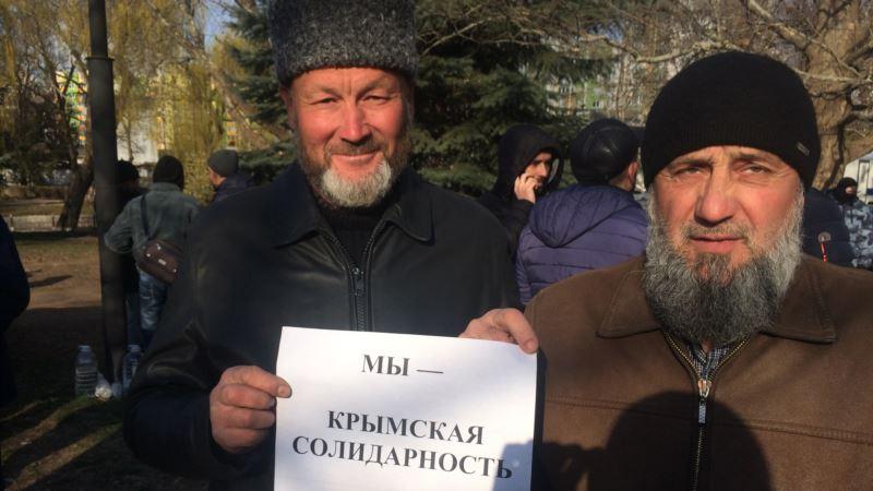 На участника флешмоба в поддержку активистов «Крымской солидарности» составили административный протокол