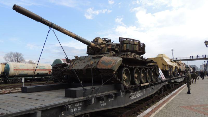 В Керчь привезли «трофейное оружие» из Сирии (+фото)