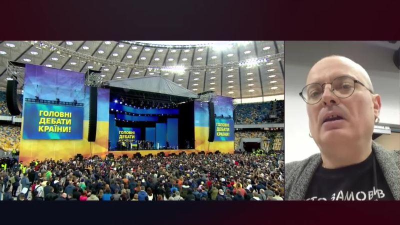 Кто сильнее: Порошенко или Зеленский? Политтехнолог проанализировал дебаты на Олимпийском (видео)