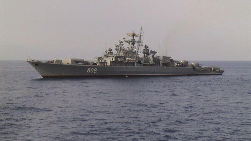 Российский корабль «Пытливый» провел артиллерийские и ракетные стрельбы в Черном море