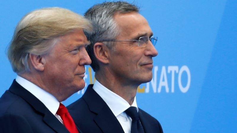 Трамп на встрече со Столтенбергом выразил надежду на «хорошие отношения» с Россией