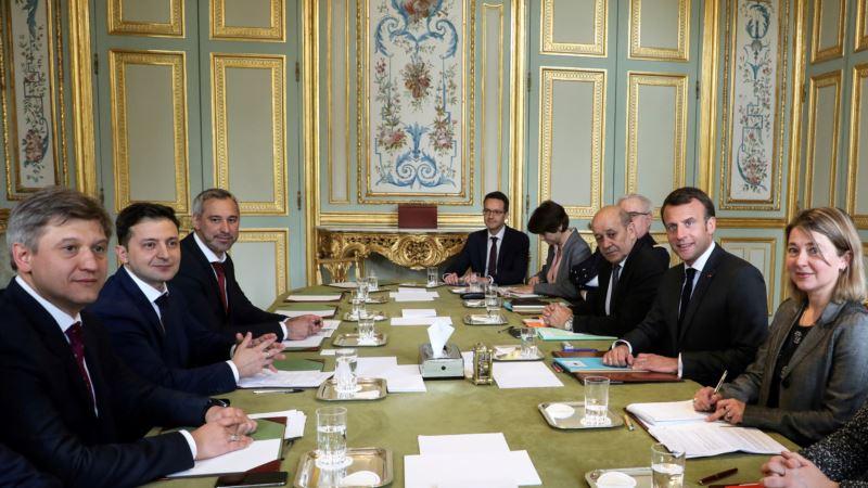 Зеленский встретился с президентом Франции в Париже (+фото, видео)