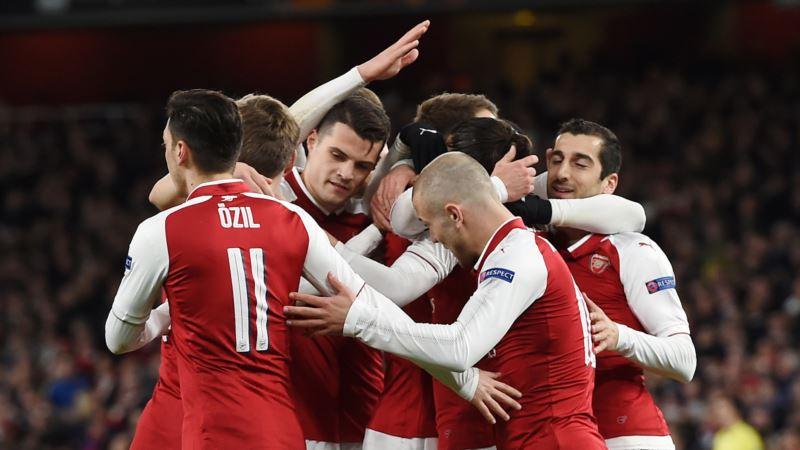Лига Европы: «Арсенал» на своем поле уверенно обыграл «Наполи»