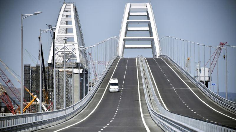 В Минтрансе России вслед за Путиным заявили о досрочной сдаче железнодорожной ветки Керченского моста