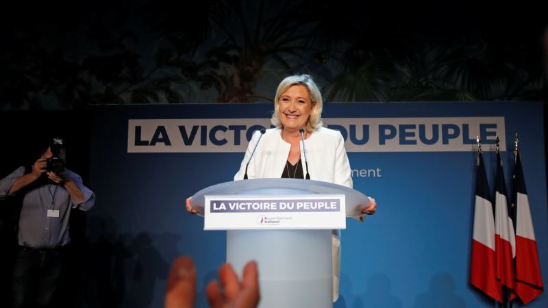 Во Франции на выборах в Европарламент лидируют крайние правые из партии Ле Пен