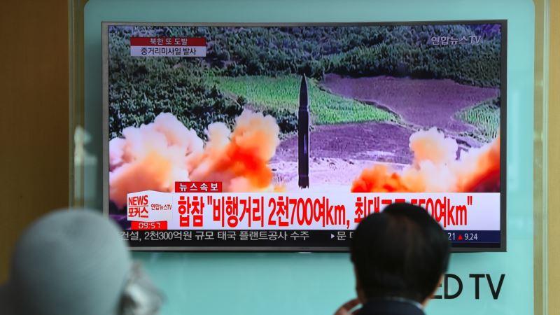 Северная Корея: Ким Чен Ын наблюдал за очередными ракетными испытаниями