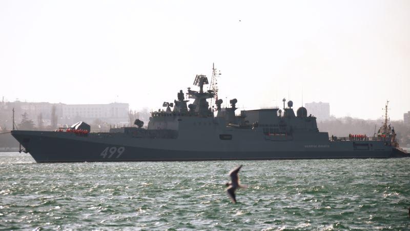 Российские военные учились сбивать беспилотники в Черном море