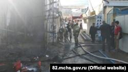 В Симферополе горели магазины у Центрального рынка (+фото)