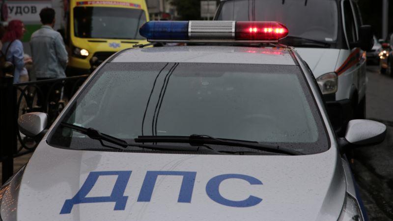 В Крыму российские патрульные устроили ДТП во время погони за нарушителем – МВД