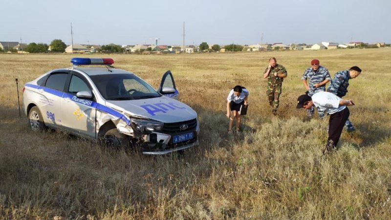 Погоня со стрельбой: в Крыму пьяный россиянин таранил авто полиции, есть пострадавшие – МВД (+фото)