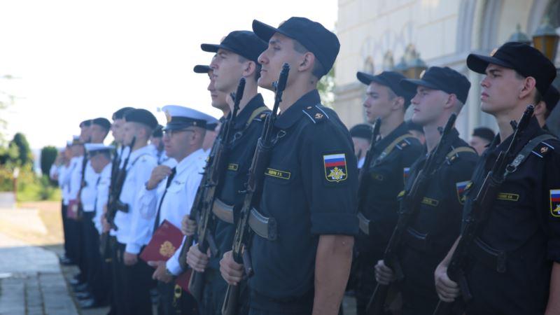 В Херсонесе кадеты-водолазы присягнули на верность России