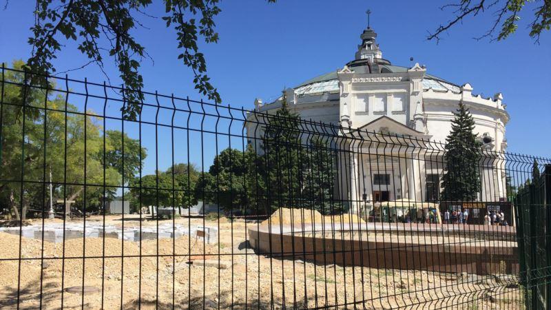 На Историческом бульваре в Севастополе обнаружили мину