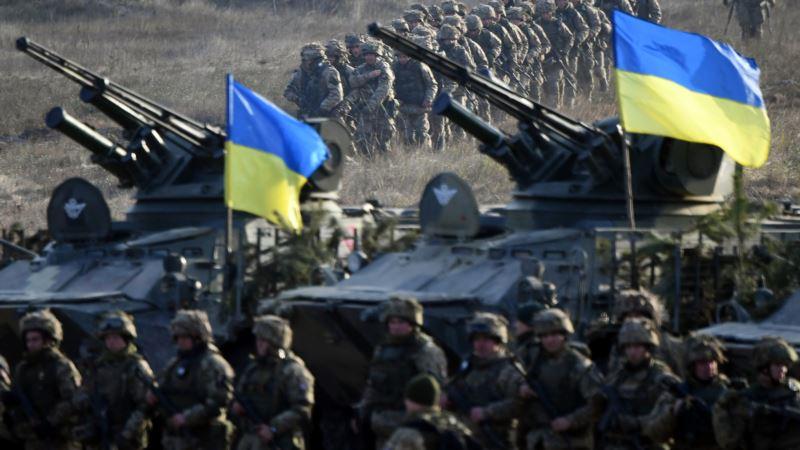 Украинская рота участвует в международных учениях в составе батальона США