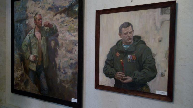 В Севастополе устроили выставку картин с портретами убитых боевиков «ДНР» и «ЛНР» (+фото)