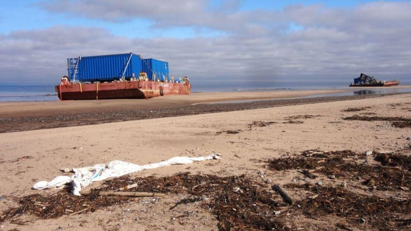 «Росатом» не отбуксировал радиоактивные понтоны из Северодвинска в срок