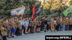 В Севастополе у памятника Ленину  закрыли сезон стройотрядов (+фото)
