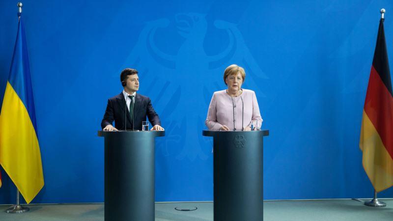 Зеленский и Меркель обсудили ситуацию с безопасностью на Донбассе