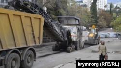 Ремонт дороги в Ялте