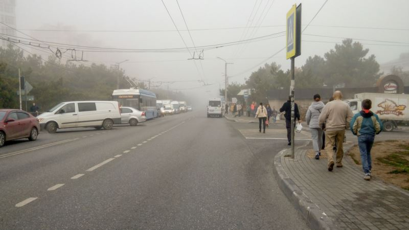 Севастополь в тумане: «лондонская» погода на полуострове (фотогалерея)