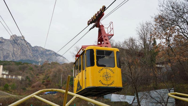 Канатная дорога на Ай-Петри в Крыму работает с перебоями