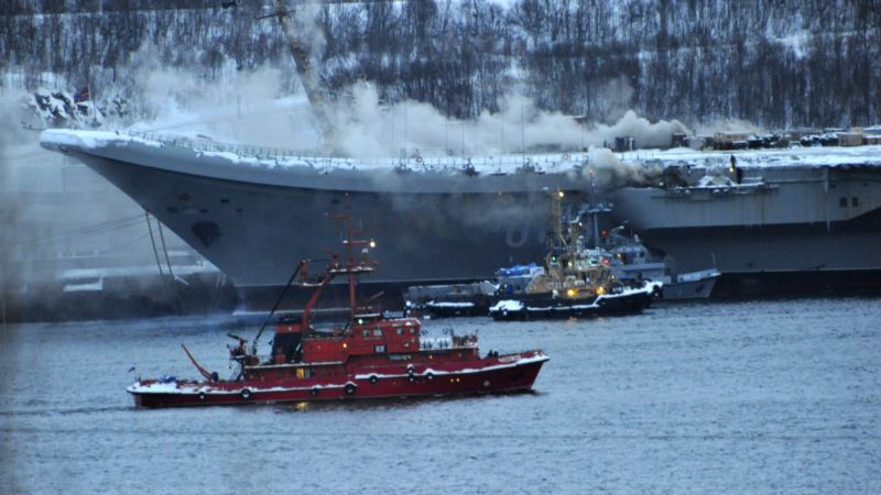 Пожар на российском авианосце: количество пострадавших растет
