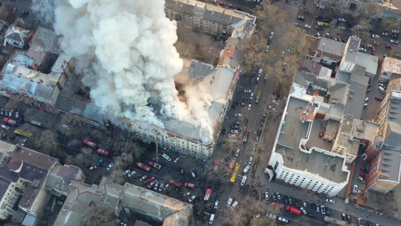 Пожар в колледже Одессы: под завалами обнаружено еще одно тело