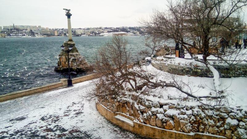 Погода в Крыму: снег, метель и гололед