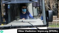 Симферополь: часть водителей общественного транспорта надели маски