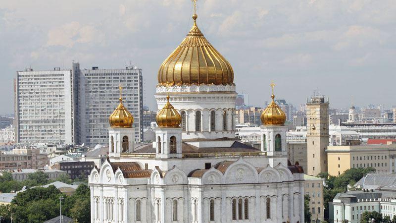 В России у храма Христа Спасителя прошел пикет в защиту политзаключенных