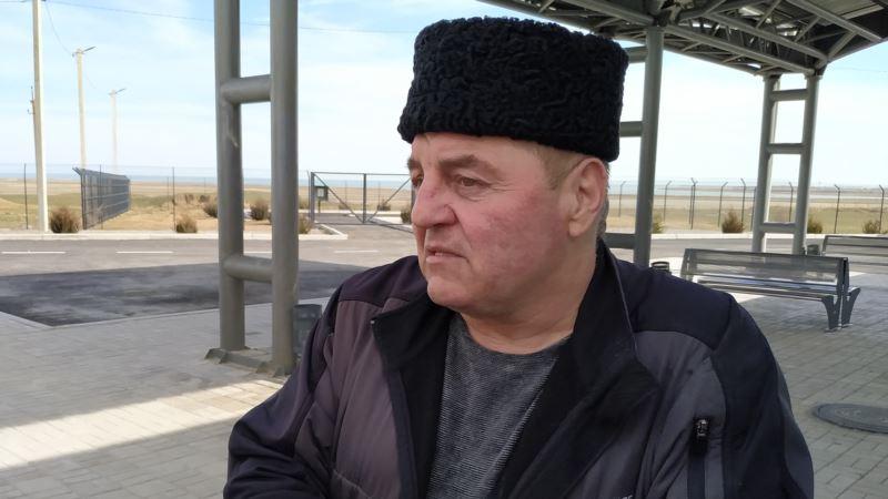 Бывший политузник Кремля Эдем Бекиров принял участие в акции на админгранице с Крымом (+фото)