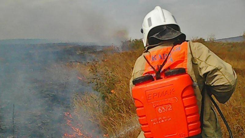 В Крыму за неделю произошло 84 пожара и семь аварий на дорогах