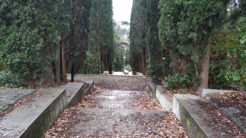 Власти Ялты признали, что не могут убрать мусор в парке Мордвинова
