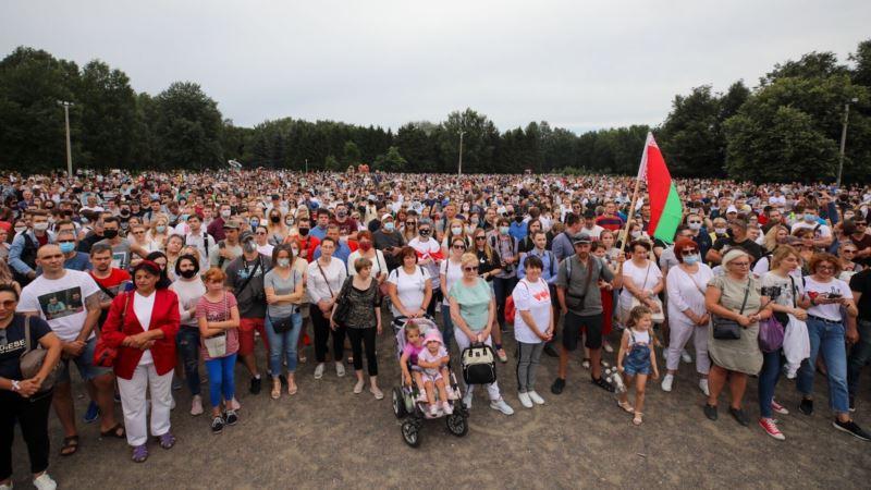 Минск: несколько тысяч человек пришли на пикет Тихановской