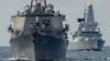Ракетный эсминец США направляется в Черное море