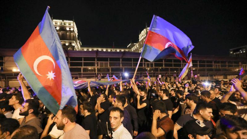 В Баку протестовали на фоне обострения отношений Азербайджана и Армении