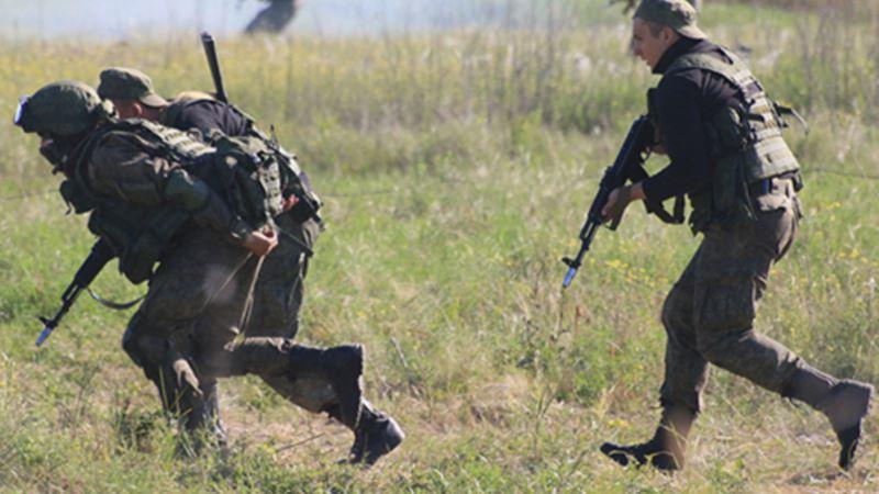 Симферополь: российские военные учились защищать госпиталь от диверсантов