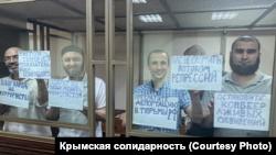 Фигуранты бахчисарайского «дела Хизб ут-Тахрир» протестовали в зале суда из-за новых задержаний в Крыму (+фото)
