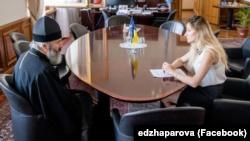 Встреча митрополита ПЦУ в Крыму Климента и первой замглавы МИД Украины Эмине Джеппар