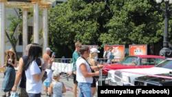 Выставка ретро-автомобилей в Ялте, 8 августа 2020 года