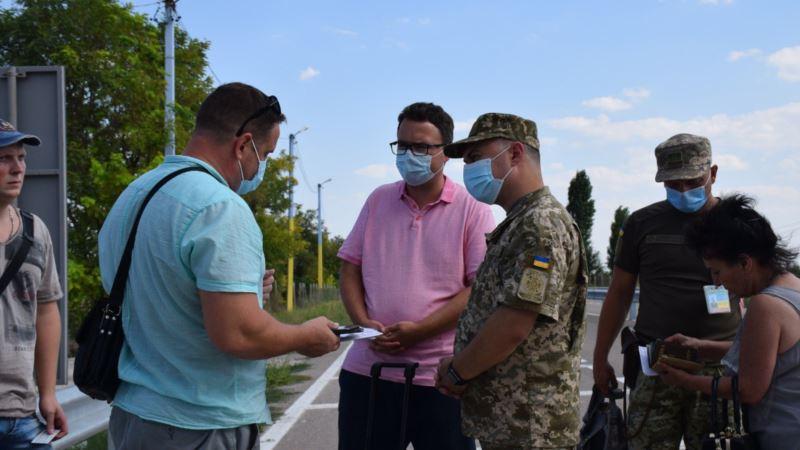 Представитель президента посетил админграницу между Крымом и Херсонщиной (+фото)