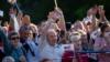 В Минске тысячи людей пришли на встречу с Тихановской (трансляция)