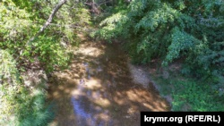 В Севастополе снизился уровень воды в реке Бельбек (+фото)