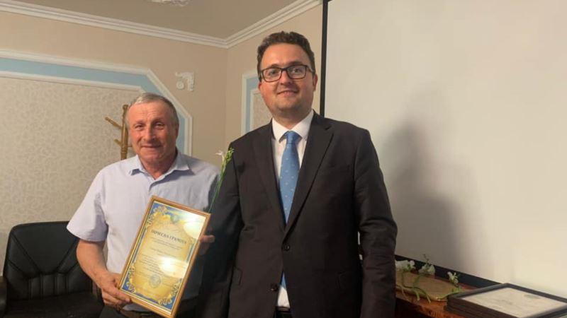 Николай Семена получил почетную граммоту представительства президента Украины в Крыму